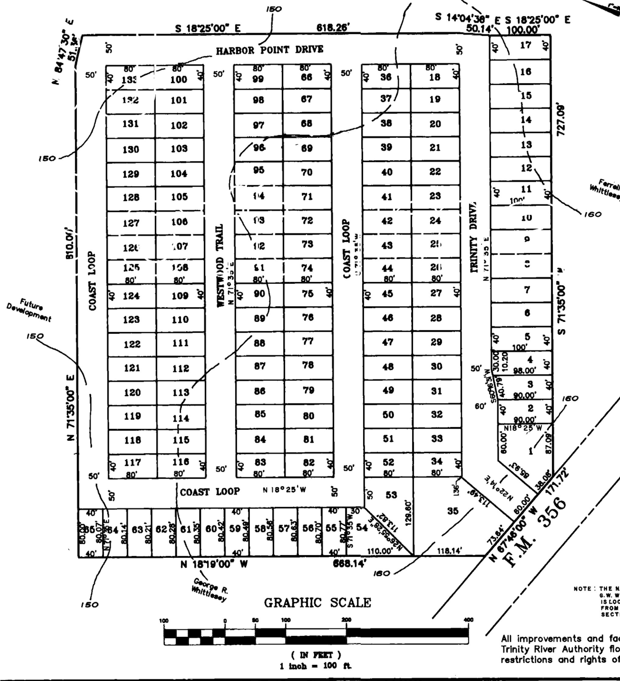 Harbor Point Resort Property Plat Section A
